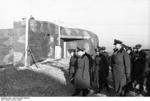 Erwin Rommel visiting bunkers on the French coast, 7 Jan 1944