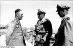 Erwin Rommel and Albert Kesselring in conversation, North Africa, Aug-Sep 1942