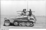 Erwin Rommel and Fritz Bayerlein in the SdKfz. 250/3 command vehicle