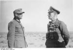 Colonel General Rommel with Major General Böttcher, North Africa, Jan 1942