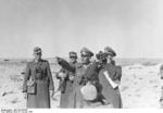 Colonel General Rommel inspecting German defensive positions, North Africa, Jan 1942