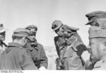 Colonel General Erwin Rommel and officers at El Agheila, Libya, 12 Jan 1942