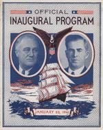 Inaugural program of Franklin Roosevelt and Henry Wallace, 20 Jan 1941