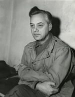 Alfred Rosenberg in captivity during the Nuremberg Trials, Nürnberg, Germany, 24 Nov 1945