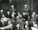 Accused German war criminals in the dock, Nürnberg, Germany, 22 Nov 1945