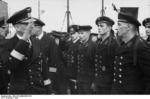 German Navy Kapit�n zur See Ruge inspecting a minesweeper, 1941, photo 1 of 2