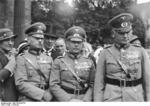 German Army officers Rundstedt, Fritsch, and Blomberg at the Unter den Linden, Berlin, Germany, circa 1934