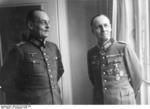 Erwin Rommel and Gerd von Rundstedt in discussion at the Hotel George V, Paris, France, 19 Dec 1943, photo 2 of 5
