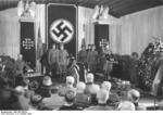 German Army Field Marshal Gerd von Rundstedt speaking at the funeral of Field Marshal Erwin Rommel, Württemberg, Germany, 18 Oct 1944