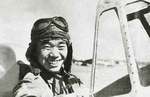 Japanese Navy Petty Officer 2nd Class Saburo Sakai in the cockpit of his A5M fighter, Hankou, Hubei Province, China, 1939