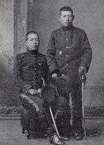 Shunroku Hata (left) and Eitaro Hata (right), 1901-1904
