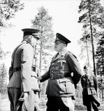 Finnish Lieutenant General Hjalmar Siilasvuo and German Colonel General Hans-Jürgen Stumpf, Finland, circa 1941-1944