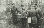 Finnish General Siilasvuo, Colonel Palojärvi, and Colonel Hannelius at Kiestinki, Finland, 1940s