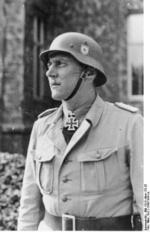 Otto Skorzeny posing with the Knight