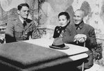 Claire Chennault, Song Meiling, and Chiang Kaishek in China, circa 1940s