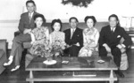 Song Zian, Song Ziliang, and Song Ziwen with their wives in Washington DC, United States, Dec 1942