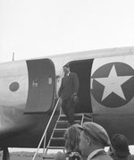 Song Ziwen arriving in Moscow, Russia, circa 13-14 Aug 1945