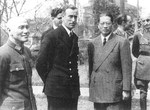 Chiang Kaishek, Louis Mountbatten, and Song Ziwen in Chongqing, China, Oct 1943