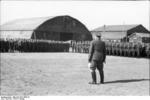 German Field Marshal Hugo Sperrle visiting an airfield, France, spring 1942, photo 3 of 5