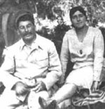 Joseph Stalin and his second wife Nadezhda Alliluyeva, before 1932