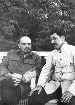 Vladimir Lenin and Joseph Stalin at Lenin