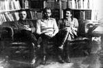 Kliment Voroshilov, Maxim Gorky, and Joseph Stalin, 11 Oct 1931