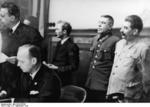 Ribbentrop signing the German-Soviet non-aggression pact, Moscow, Russia, 23 Aug 1939, photo 3 of 3; Boris Shaposhnikov and Joseph Stalin in back row