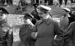 Joseph Stalin overseeing the construction of the Moscow-Volga canal, 1932-1937