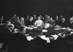 Stalin, Attlee, Truman, and others at the Potsdam Conference, Germany, 28 Jul 1945, photo 2 of 4
