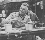 General Joseph Stilwell eating C-rations, 25 Dec 1943