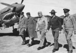 John Dill, Claire Chennault, Henry Arnold, Joseph Stilwell, and Clayton Bissell at an airfield in China, 1940s