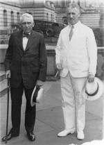 Frank Kellogg and Henry Stimson at the State, War, and Navy Building, Washington DC, United States, 25 Jul 1929