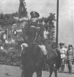 Chinese General Sun Liren on his horse, circa 1944