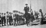 Sun Liren inspecting troops of the Chinese New First Corps, date unknown
