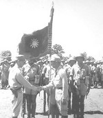 General Sun Liren inspecting the Chinese 38th Division, 1940s