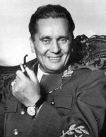 Portrait of Marshal Josip Broz Tito of Yugoslavia, 1940s