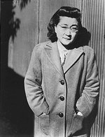 Iva Toguri at Radio Tokyo, Japan, 5 Dec 1944, photo 2 of 5