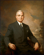 Official White House Portrait of US President Harry S. Truman, painted by Greta Kempton in 1945