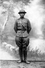 Harry Truman as an US Army officer in France during WW1, 1918