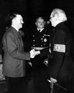 Adolf Hitler, Otto Meissner, and Vojtech Tuka, Oct 1941