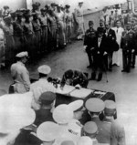 General Umezu signing the instrument of surrender, Tokyo Bay, Japan, 2 Sep 1945, photo 2 of 4