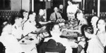 The first ABDA command meeting with General Wavell, 10 Jan 1942; L to R: Layton, Helfrich, Hart, ter Poorten, Kengen, Wavell, Brett, Bereton