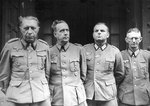 German General Helmuth Weidling and other German generals in captivity, Berlin, Germany, 2 May 1945