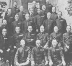 Captain Isoroku Yamamoto (2nd row, 2nd from right) with ex-classmates of Naval Academy at Etajima, circa mid- to late-1920s