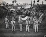Funeral of Lieutenant General Yoshitsugu Saito, near Tanapag, Saipan, Mariana Islands, 13 Jul 1944