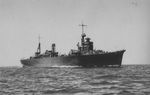 Repair ship Akashi running trials off Sasebo, Japan, Jul 1939