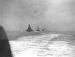 USS South Dakota, USS Alabama, and HMS Anson in the North Atlantic, 1943