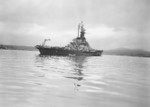 US battleship Alabama anchored in Puget Sound, Washington, United States, 15 Mar 1945, photo 3 of 5; starboard quarter view
