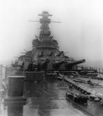 Superstructure of USS Alabama while underway in the Atlantic Ocean, 4 Mar 1943