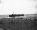 USS Coral Sea during an exercise, seen from USS Manila Bay, 13 Jan 1944